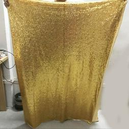 1.2*1.8M gold sequin wedding backdrop curtain for event part