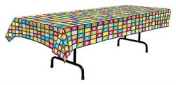 1 Retro 1970s 70s Decade Party Decoration TABLE COVER DISCO