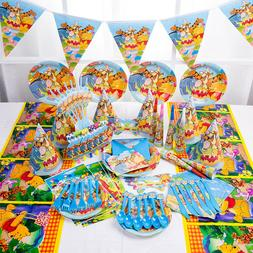 1 Set Winnie Pooh Kids Party Supply Tableware Decoration Bir