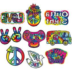 10 1960's Cutouts Hanging Decorations Peace Love Reunion Bir