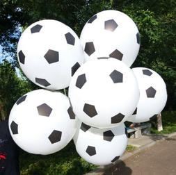 10 PACK Soccer Ball Party Balloons Sports Football Team Them