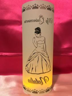 10 Personalized Quinceanera Luminaries Table Centerpieces Pa