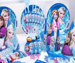 96 Pcs Frozen Disney Kids Girl Party Supplies Decoration Tab