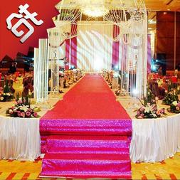 10MTR wedding pearl carpet T stage Shiny Large Red Carpet <f