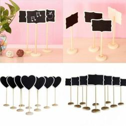 10Pcs Mini Wooden Chalkboard Blackboard Message Table Number