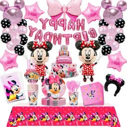 110 Pcs  Minnie Mouse Birthday Party Decorations Minnie Mous