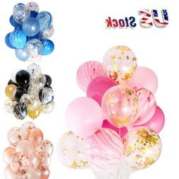 "12"" Confetti Latex Balloons Wedding Birthday Party Decoratio"