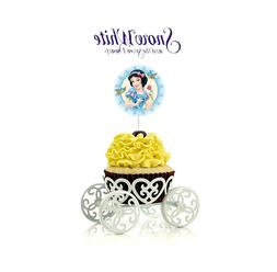 12 Disney Snow White Cupcake Cake Toppers Food Picks Favor P