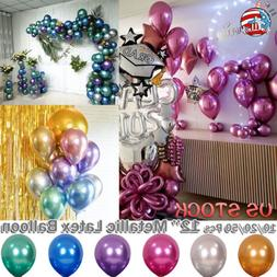 "12"" Latex Metallic Balloon Decoration Birthday Wedding Party"