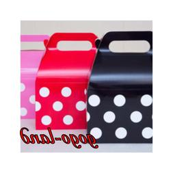 12 pack Minnie & Mickey Mouse  Polka Dots Goody Boxes Party