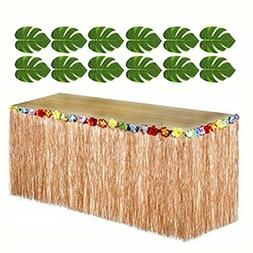 Adorox 12 pc Tropical Green Leaves included 1 Hawaiian Luau