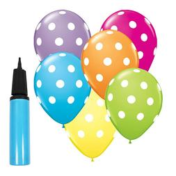 "12"" Polka Dot Latex Balloons Colorful Party Holiday Decorati"
