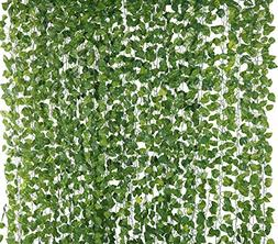 Yatim 78-Ft 12 Pack Silk Artificial Ivy Vines Leaf Garland P