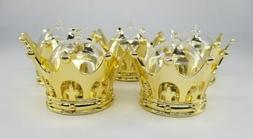 12X Baby Shower favors Fillable Gold Crown Prince/princess P