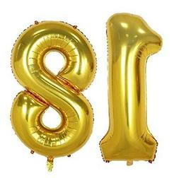 "16"" 18 Gold Number Balloons 18th Birthday Party Anniversary"
