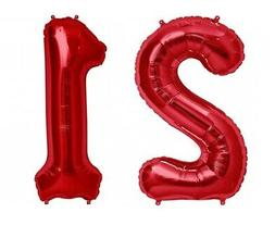 "16"" 21 Red Number Balloons 21st Birthday Party Anniversary F"