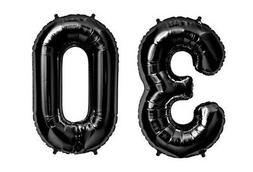 "16"" 30 Black Number Balloons 30th Birthday Party Anniversary"