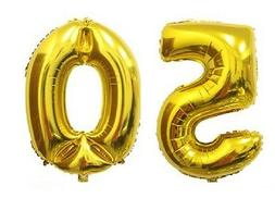 "16"" 50 Gold Number Balloons 50th Birthday Party Anniversary"
