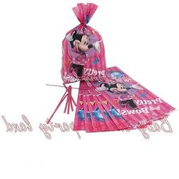 16 MINNIE MOUSE BIRTHDAY FAVOR TREAT GOODY GIFT PINATA BAGS