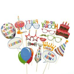 18pcs birthday balloons photo booth props kids party decorat