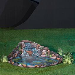 2 ft. 5 in. Rustic Garden Waterfall with Pond