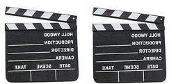 2 HOLLYWOOD CLAPBOARD CLAPPER CLAP BOARDS MOVIE SIGN DIRECTO