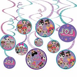 2 LOL Surprise Spiral Party Decorations 12 Pieces 2 packs =