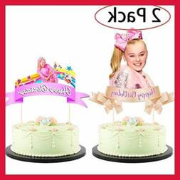 2 Pack Jojo Siwa Cake Topper Cupcake Toppers Birthday Party
