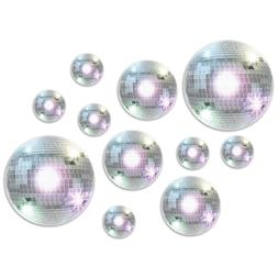 20 Disco Ball Cutouts 1970's Dancing Hustle Boogie Reunion B