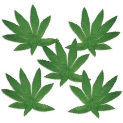 20 Mini Fabric Fern Leaves Birthday Party 1960's Weed Mariju