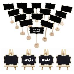 20 Mini Wooden Chalkboards Easel Marker Chalk for Wedding Pa