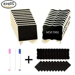 20 Pack Small Chalkboard with Easel Stand Decorative Food Si