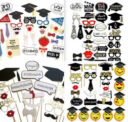 2018 Students Graduation Grad Party Masks Photo Booth Props