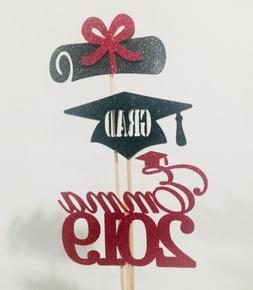 2019 Graduation Party Decor, Class of 2019 Tags,2019 Centerp