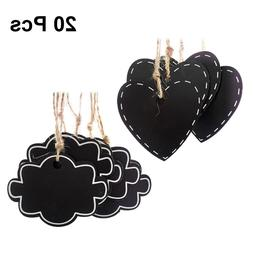 20Pcs Wooden Place Tag Mini <font><b>Chalkboards</b></font>