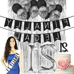 21st Birthday Decorations 21 Birthday Party Supplies 21 Fina