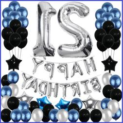 21St Birthday Decorations 21 Party Decoration Balloons Suppl