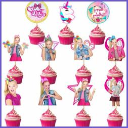 22 Pack Jojo Siwa Cake Topper Cupcake Toppers Birthday Party