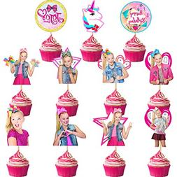 22 Pack Siwa Cake Topper Jojo Cupcake Toppers Birthday Party