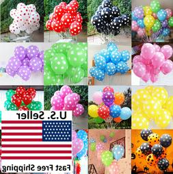 "25/50/100pcs 12"" Colorful Polka Dot Latex Balloons Party Hol"