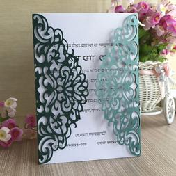 25pcs Grace Glossy Pearl Paper Wedding Invitations <font><b>