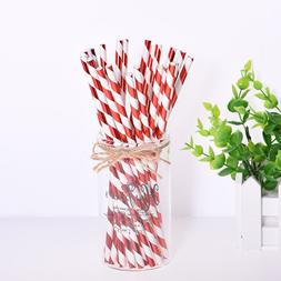 25pcs Sliver Gold Bronzing Strip Paper Straws <font><b>Kids<