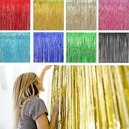 2pack Shiny Metallic Fringe Foil Tinsel Curtain Wedding Door