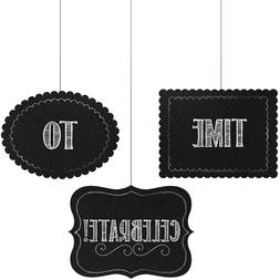 3 Chalkboard Hanging Cutouts Personalize Decor Baby Shower B