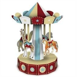 3-D Vintage Circus Carousel Centerpiece 10-inch Circus Birth