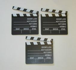 3 NEW MOVIE DIRECTOR'S CLAPBOARD PROP HOLLYWOOD CLAPPER CHAL