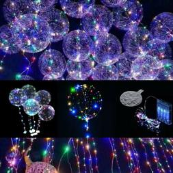 3 Packs 10 ft Color LED Light UP Balloons Party Birthday Dec