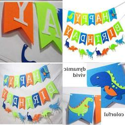 3 PCS Dinosaur Happy Birthday Banner For Kids Party Supplies