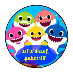 30 personalized Baby Shark birthday stickers party decoratio