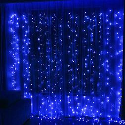 Twinkle Star 300 LED Window Curtain String Light for Christm